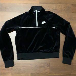 Nike Cropped Velour Half Zip